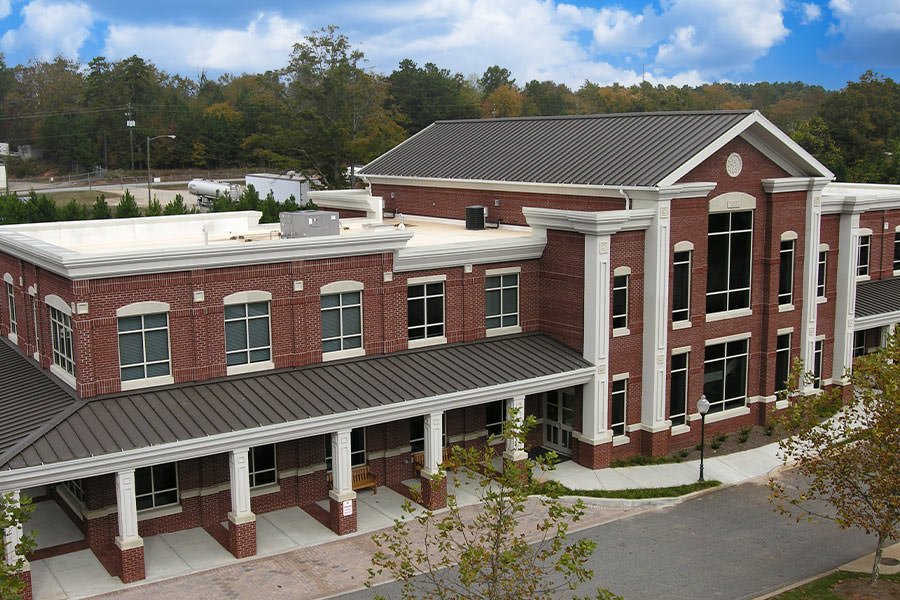 Commercial roofing example